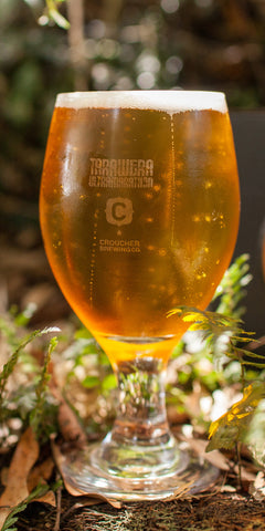 Tarawera & Crouchers Brewery Branded Beer Glass.  SALE! Was $25 now only $15