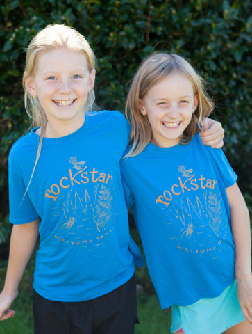 Kids RockStar Tshirt - Blue  *** MID WINTER SALE now only $15