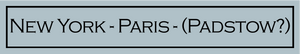 New York - Paris - (Place Name)  -  Will be on 1 or 2 lines depending on place name. Just enter your name/word to replace those in the brackets in the Bespoke Words box below