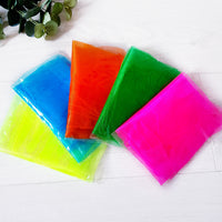 Pack of five coloured sensory scarves