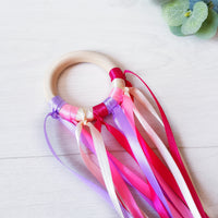 Pink Montessori inspired sensory ribbon
