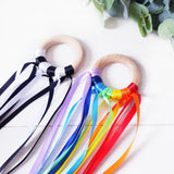 Monochrome and Rainbow Sensory ribbon double pack.