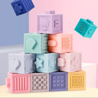 Soft silicone stacking blocks