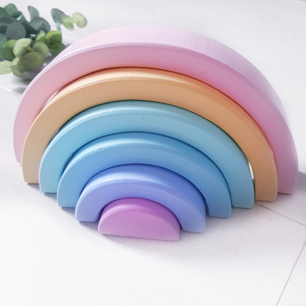 Pastel stacking rainbow