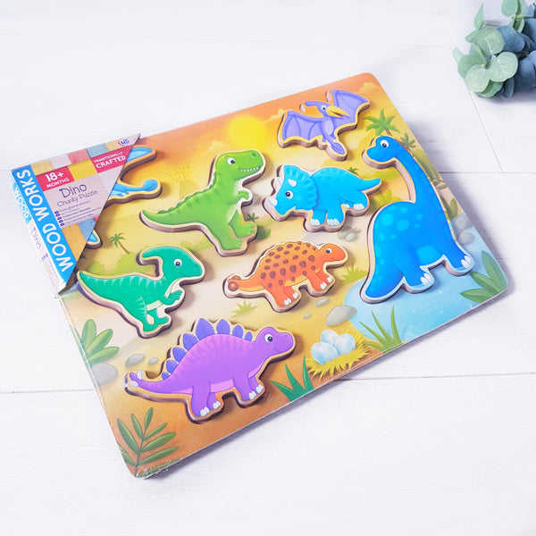 Chunky wooden jigsaw puzzle - Dinosaurs