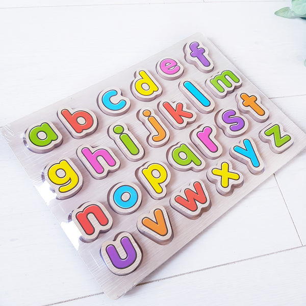 Chunky wooden jigsaw puzzle - Alphabet