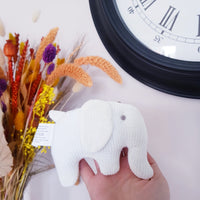 White  Elephant baby rattle