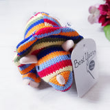 Striped Triceratops baby rattle