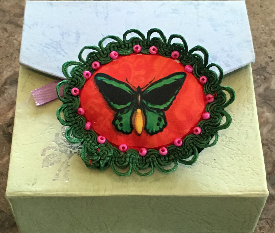 Butterfly Padded Brooch