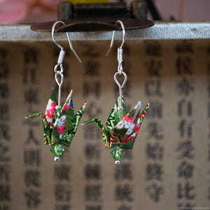 Origami Crane Earrings - Warm Colours