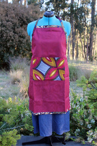Large Apron with Ankara Cloth Details