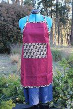 Load image into Gallery viewer, Large Apron with Ankara Cloth Details