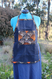 Small Child's Apron with Ankara Cloth Details