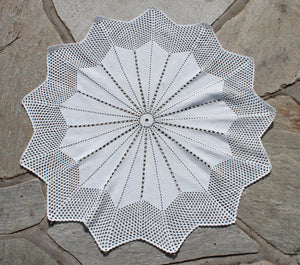 Hand-Crochet Starburst Table Cover
