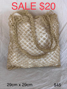 Square Crochet String Bag