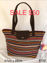 Load image into Gallery viewer, Large Striped Handbag