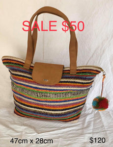 Large Striped Handbag