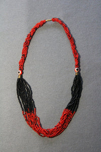Multi-Strand Necklace with Feature Beads