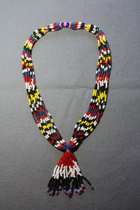Special Multi-Strand Beaded Necklace with Tassle
