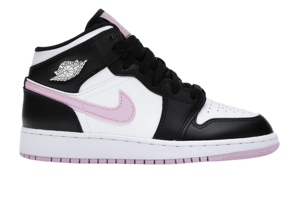 JORDAN 1 MID WHITE BLACK LIGHT ARCTIC PINK