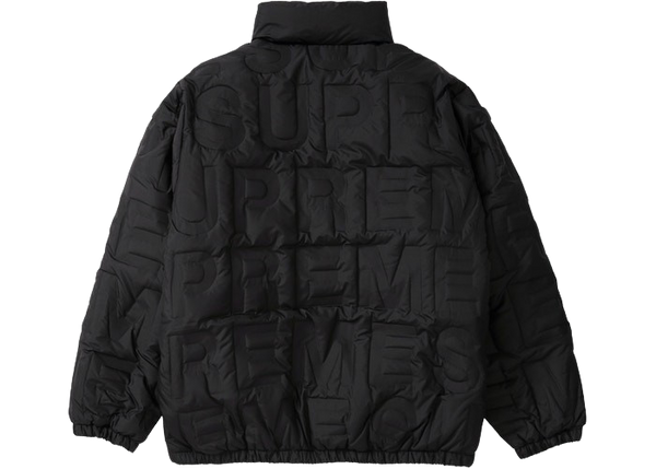 Supreme Bonded Logo Down Jacket Black