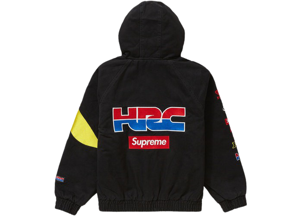 Supreme Honda Fox Racing Puffy Zip Up Jacket Black