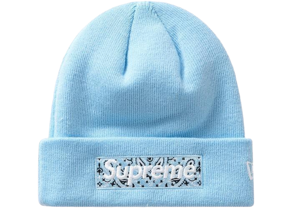 Supreme Box Logo Beanie Blue FW19