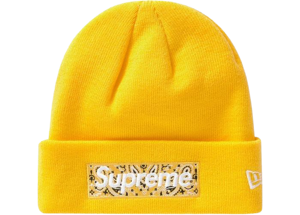 Supreme Box Logo Beanie Yellow FW19