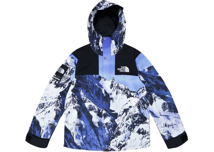 Supreme The North Face Mountain Parka Blue/White
