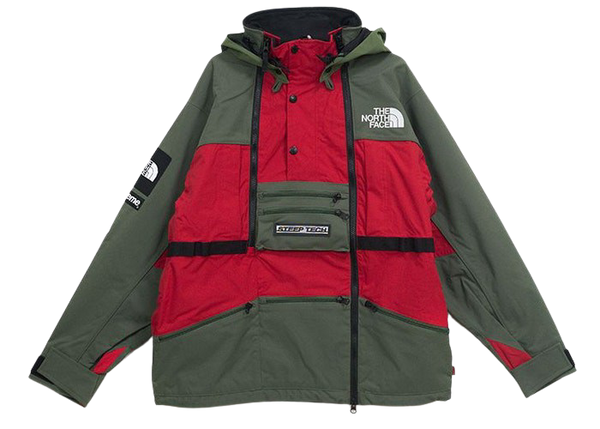 Supreme The North Face Steep Tech Hooded Jacket Olive