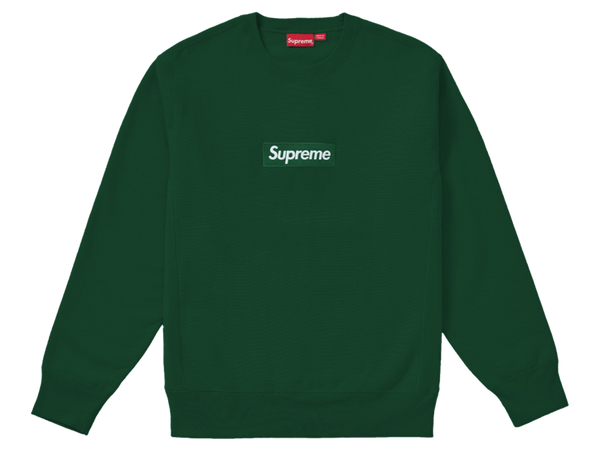 Supreme Box Logo Crewneck Sweatshirt Dark Green