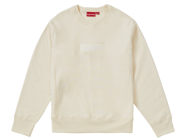 Supreme Box Logo Crewneck Sweatshirt Natural