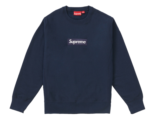 Supreme Box Logo Crewneck Sweatshirt Navy