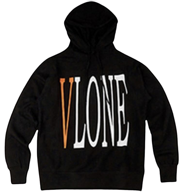 Vlone Staple Hoodie Orange on Black