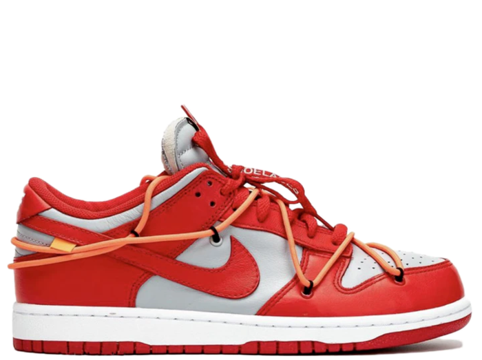Nike Off White Dunk Low University Red