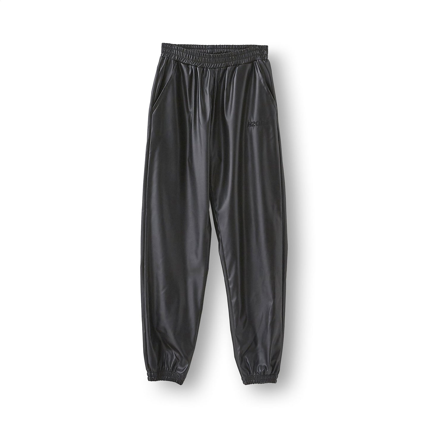 Fake Leather Tracksuit Pant - Black H2O FAGERHOLT