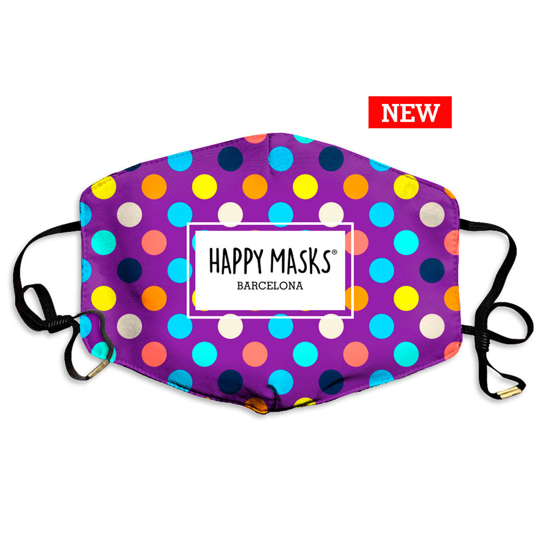 Happy Colors Dots Mask