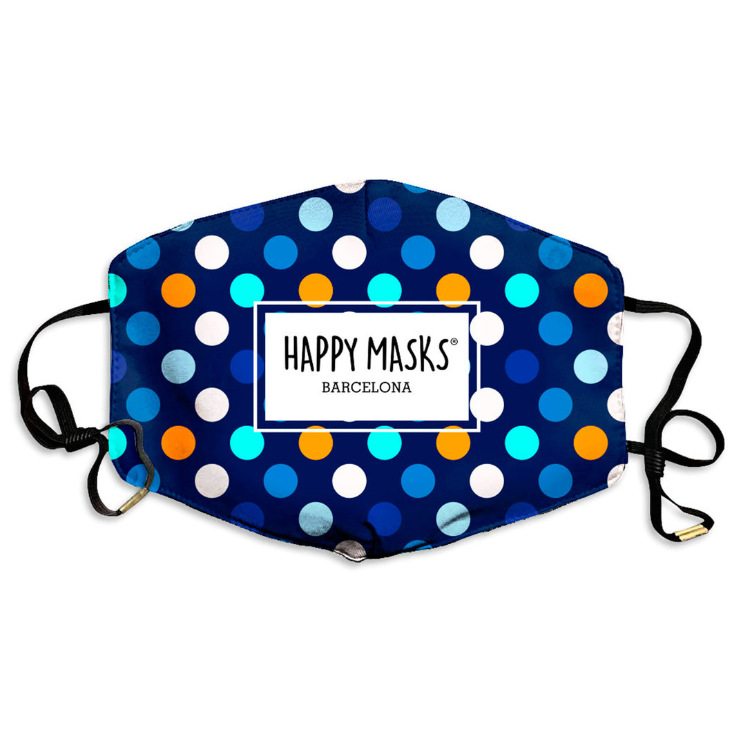 Happy Blue Dots Mask