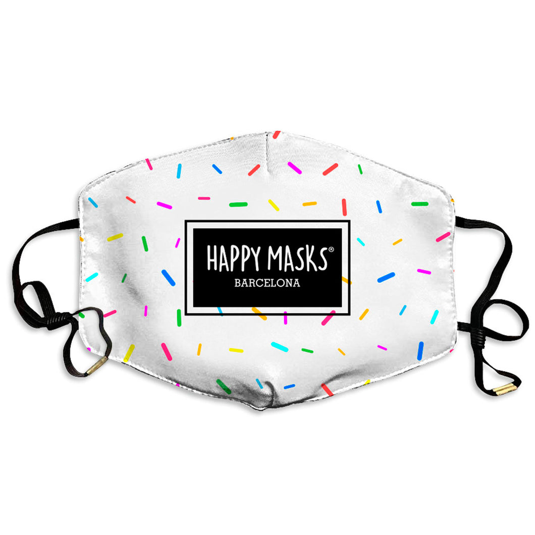 Happy Whithe Sprinkles Mask