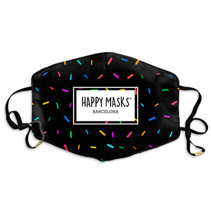 Happy Black Sprinkles Mask