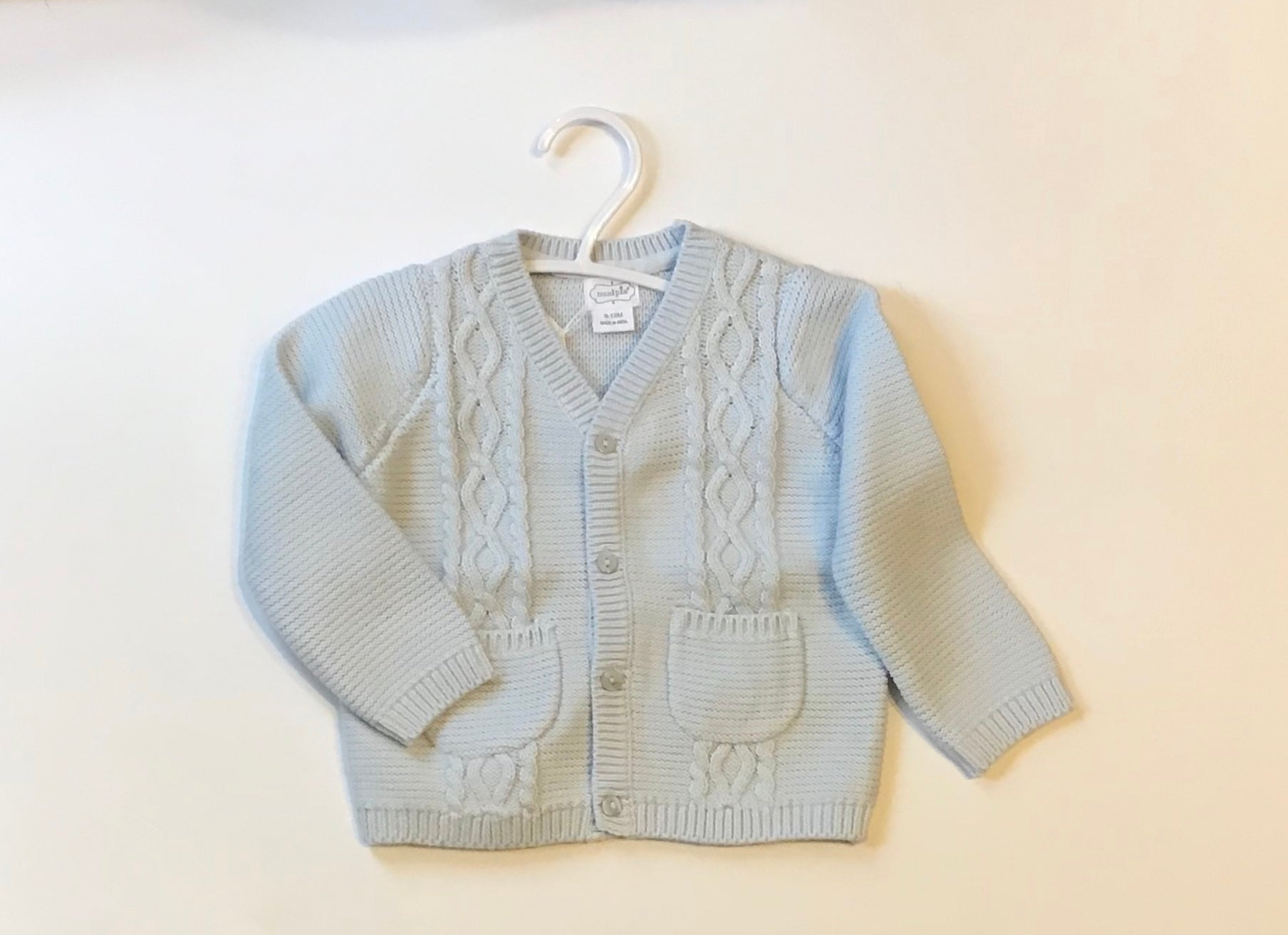 Knitted Baby Sweater - Blue