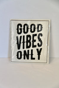 Good Vibes Only Organic Dish Cloth