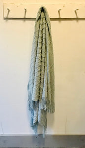Blue Fringe Throw
