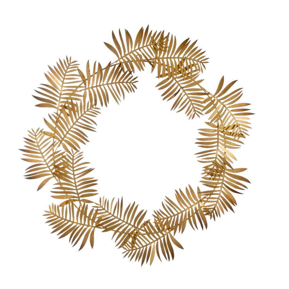 Gold Iron Leaf Wreath