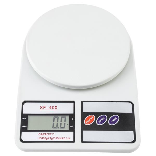 SF-400 10KG / 1g Kitchen Mail LCD Digital Scale White