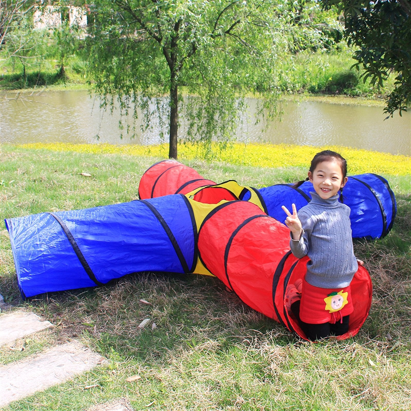 4-way Play Tunnel Folding Portable Playpen