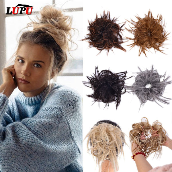 LUPU Synthetic Chignon Messy Scrunchie