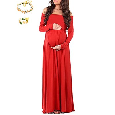 Long Section Tail Maternity Dresses