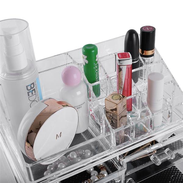 Integrated Acrylic Makeup Case Cosmetics Organizer Transparent