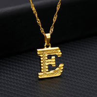 Tiny Gold Initial Letter Necklace For Women Stainless Steel